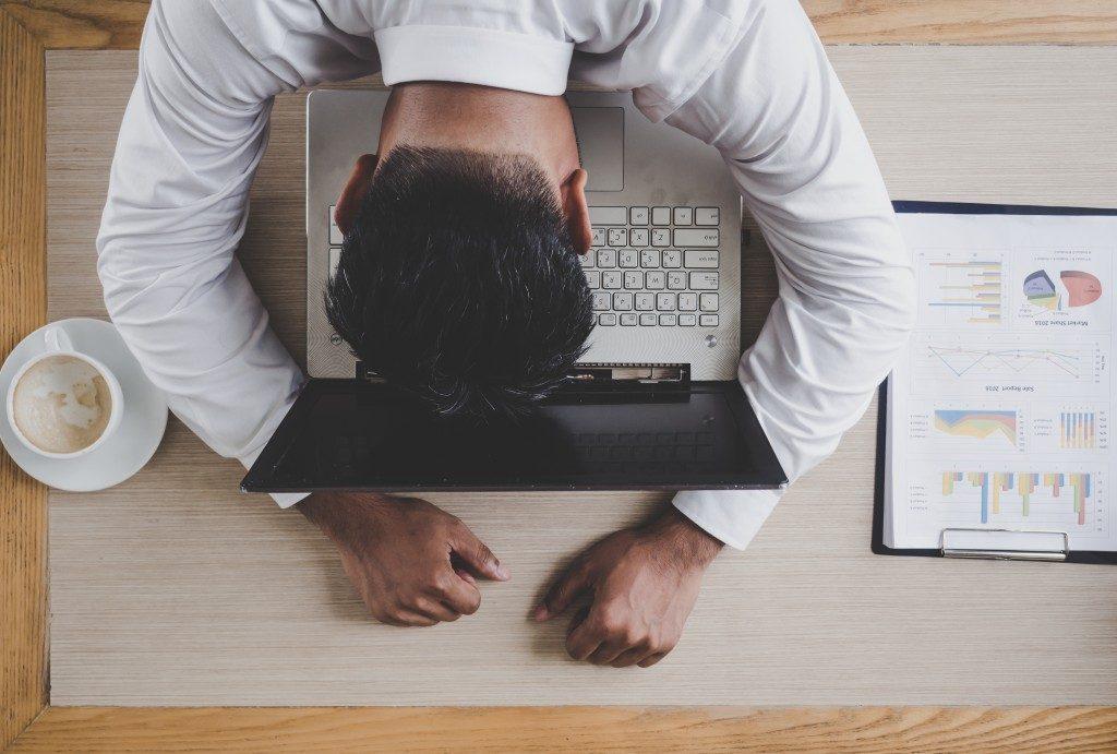 fatigued businessman