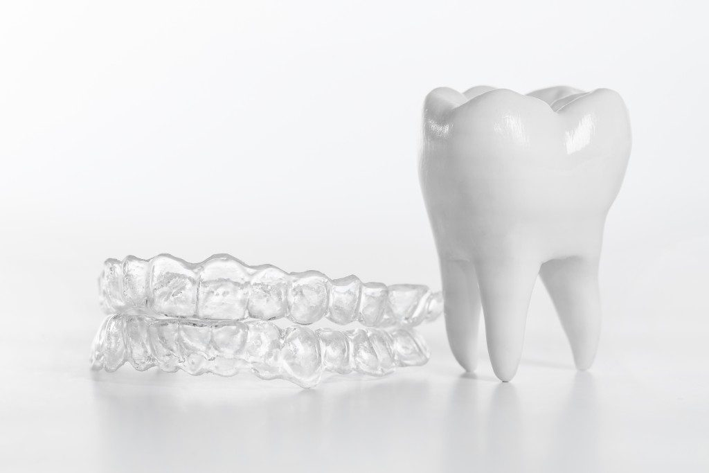 Teeth and clear braces