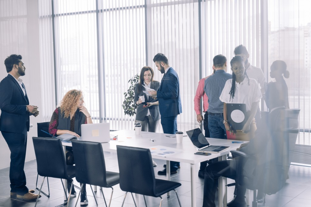 people in the meeting room