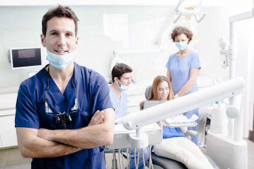 dentist at his clinic