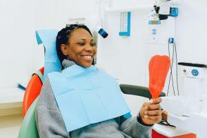 woman in dentist